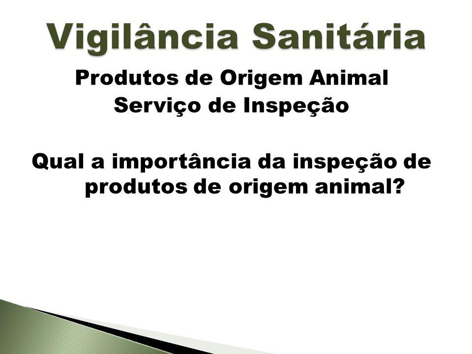 Produtos de Origem Animal Serviço de Inspeção Qual a importância da inspeção de produtos de origem animal?