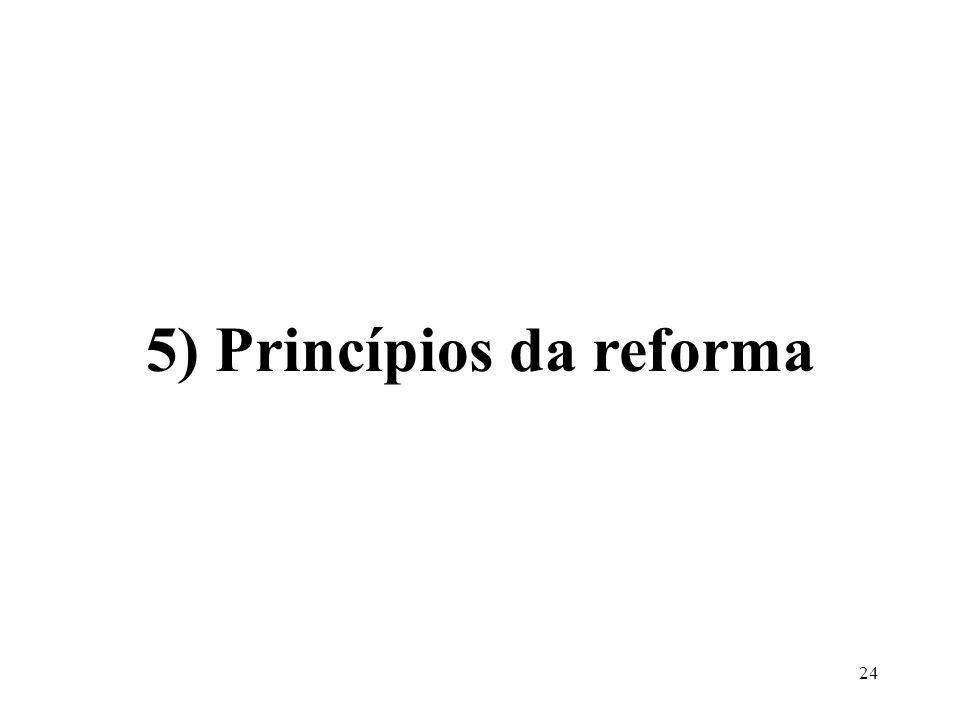 24 5) Princípios da reforma