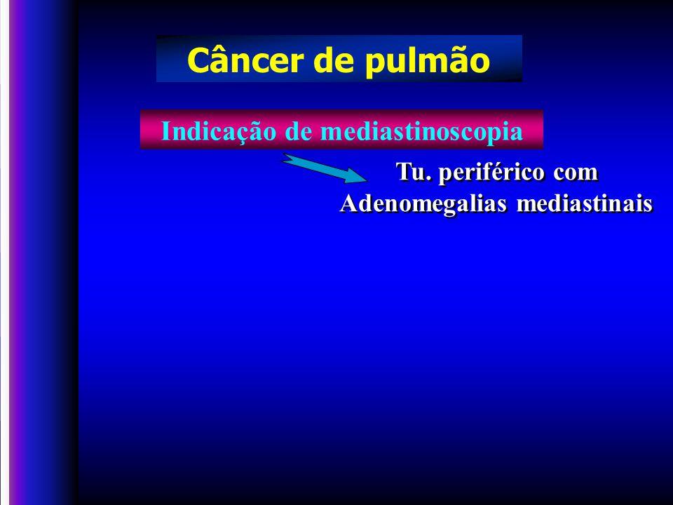 Tu.periférico com Adenomegalias mediastinais Tu.