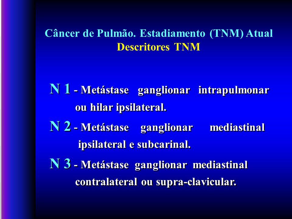 N 1 - Metástase ganglionar intrapulmonar ou hilar ipsilateral.