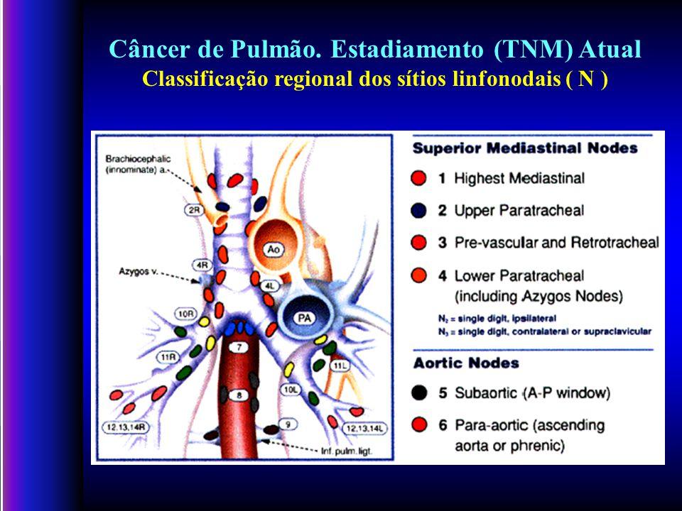 Câncer de Pulmão. Estadiamento (TNM) Atual Classificação regional dos sítios linfonodais ( N )