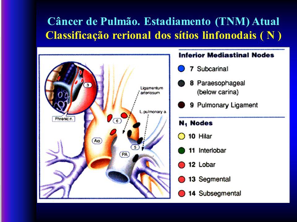 Câncer de Pulmão. Estadiamento (TNM) Atual Classificação rerional dos sítios linfonodais ( N )