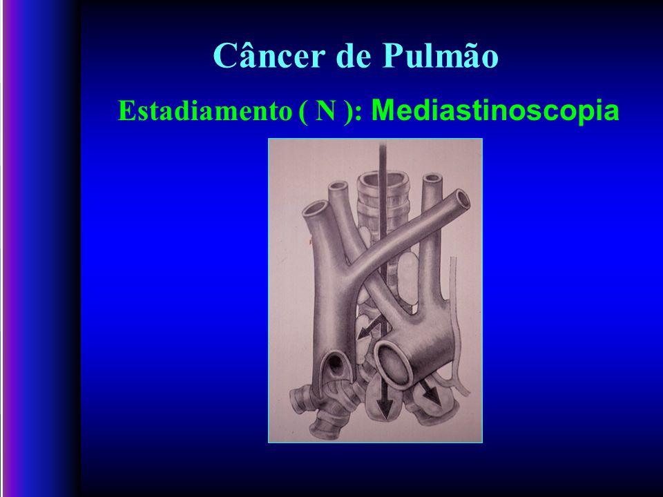 Estadiamento ( N ): Mediastinoscopia Câncer de Pulmão