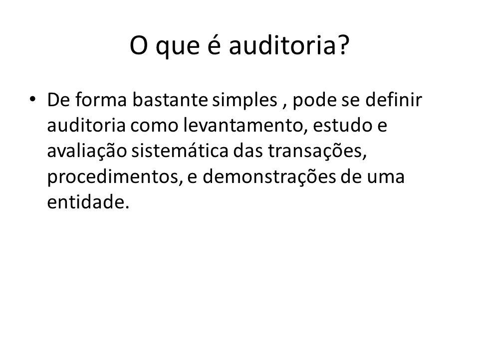 O que é auditoria.