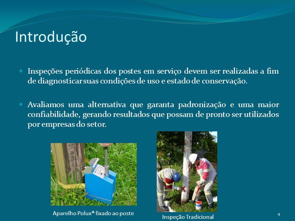 Resultados Foi utilizada uma calibração do aparelho baseada em uma curva média estabelecida para as espécie de eucalipto utilizadas no Brasil.