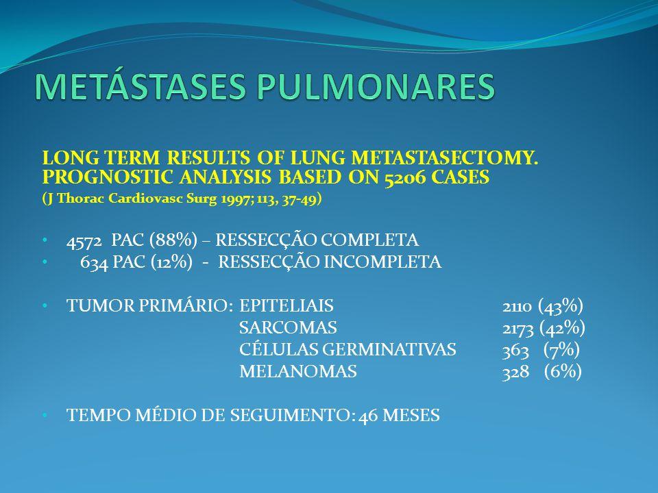 PET CT (CA DE COLON – RESSECÇÃO DE TRÊS METÁSTASES HEPÁTICAS – SEIS PULMONARES SINCRÔNICAS)