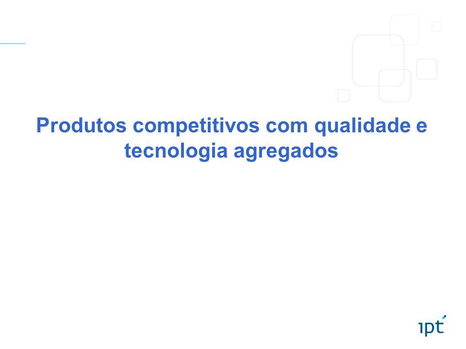 Produtos competitivos com qualidade e tecnologia agregados