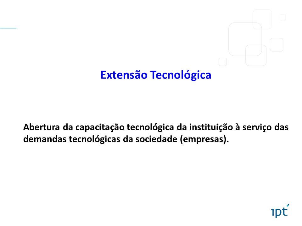 Extensão Tecnológica Abertura da capacitação tecnológica da instituição à serviço das demandas tecnológicas da sociedade (empresas).