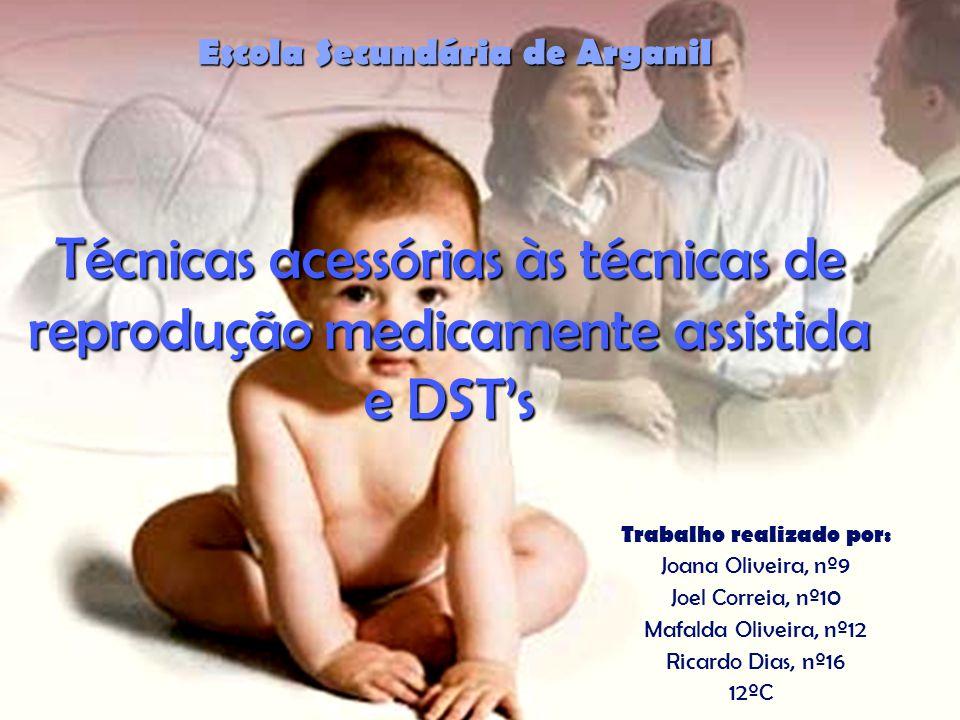 Técnicas acessórias às técnicas de reprodução medicamente assistida e DSTs Escola Secundária de Arganil Trabalho realizado por: Joana Oliveira, nº9 Jo