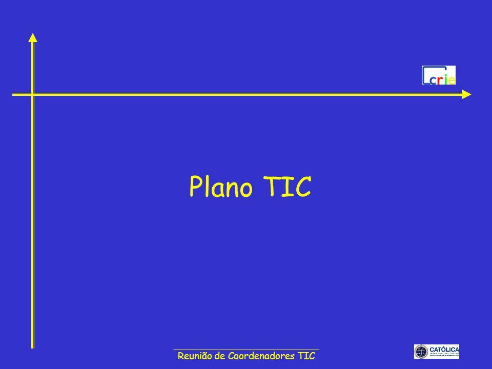 ______________________________ Reunião de Coordenadores TIC Plano TIC