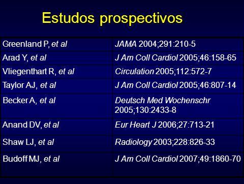 Greenland P, et alJAMA 2004;291:210-5 Arad Y, et alJ Am Coll Cardiol 2005;46:158-65 Vliegenthart R, et alCirculation 2005;112:572-7 Taylor AJ, et alJ