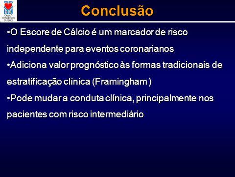 O Escore de Cálcio é um marcador de risco independente para eventos coronarianosO Escore de Cálcio é um marcador de risco independente para eventos co