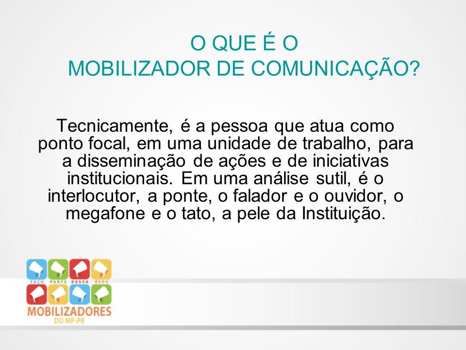 Tecnicamente, é a pessoa que atua como ponto focal, em uma unidade de trabalho, para a disseminação de ações e de iniciativas institucionais.