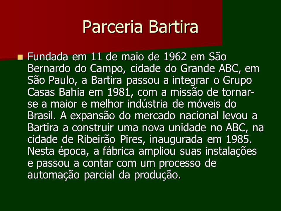 Parceria Bartira Fundada em 11 de maio de 1962 em São Bernardo do Campo, cidade do Grande ABC, em São Paulo, a Bartira passou a integrar o Grupo Casas