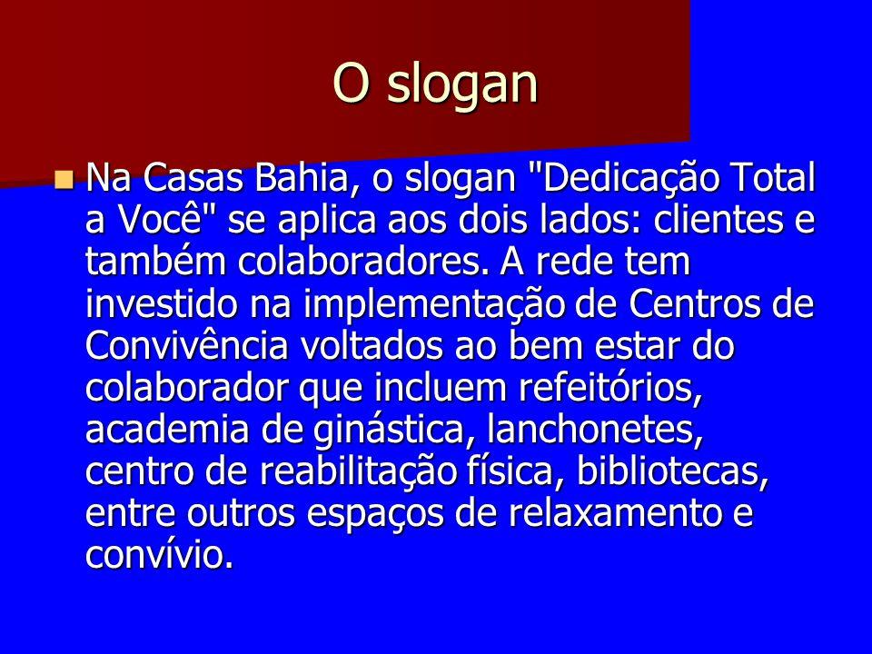 O slogan Na Casas Bahia, o slogan