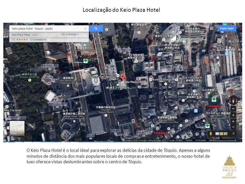 Localização do Keio Plaza Hotel O Keio Plaza Hotel é o local ideal para explorar as delícias da cidade de Tóquio.