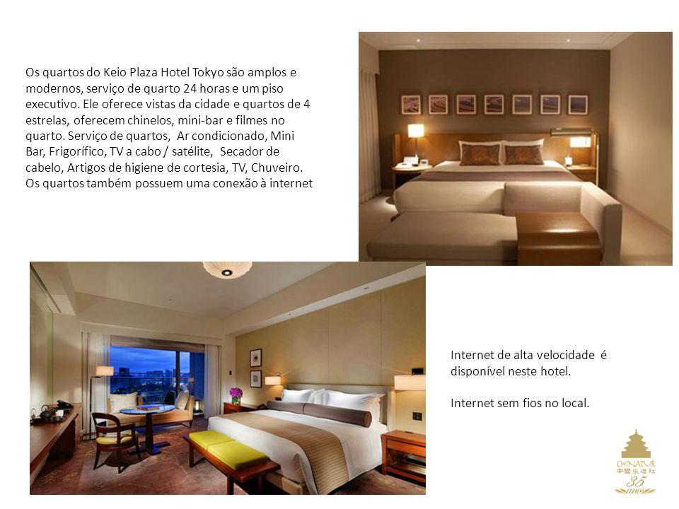 Os quartos do Keio Plaza Hotel Tokyo são amplos e modernos, serviço de quarto 24 horas e um piso executivo.