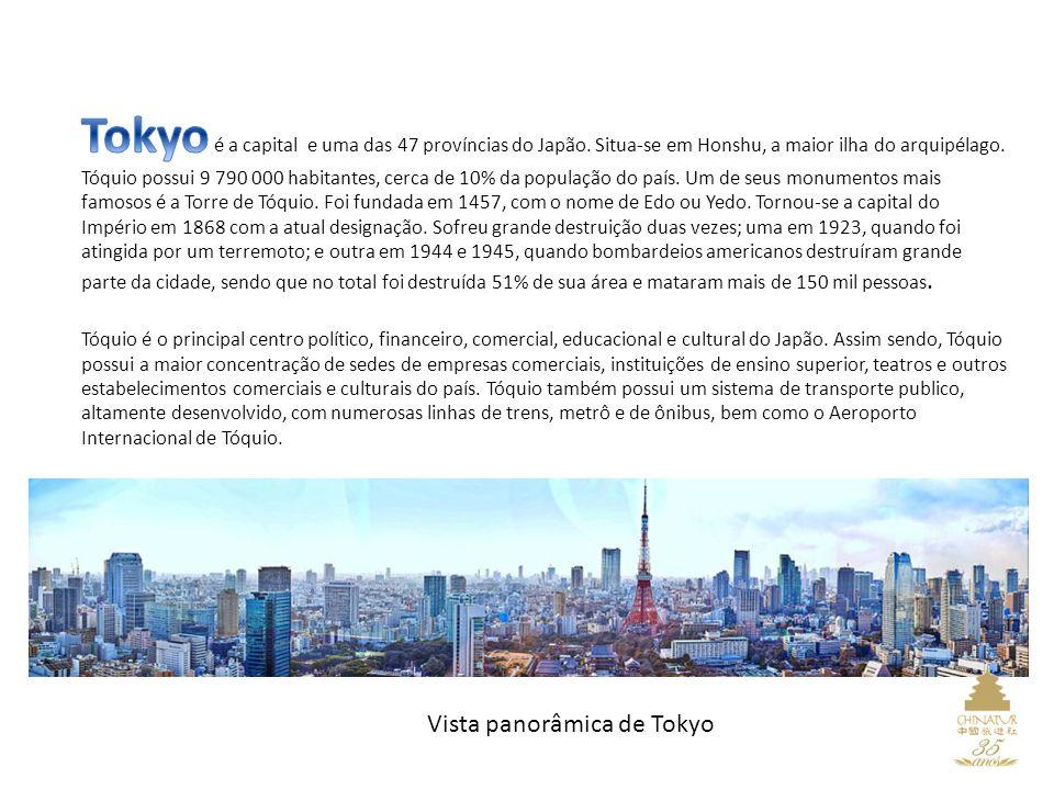 Vista panorâmica de Tokyo