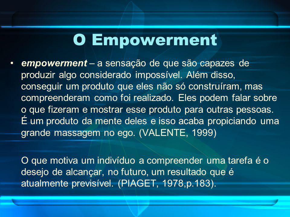 O Empowerment empowerment – a sensação de que são capazes de produzir algo considerado impossível. Além disso, conseguir um produto que eles não só co
