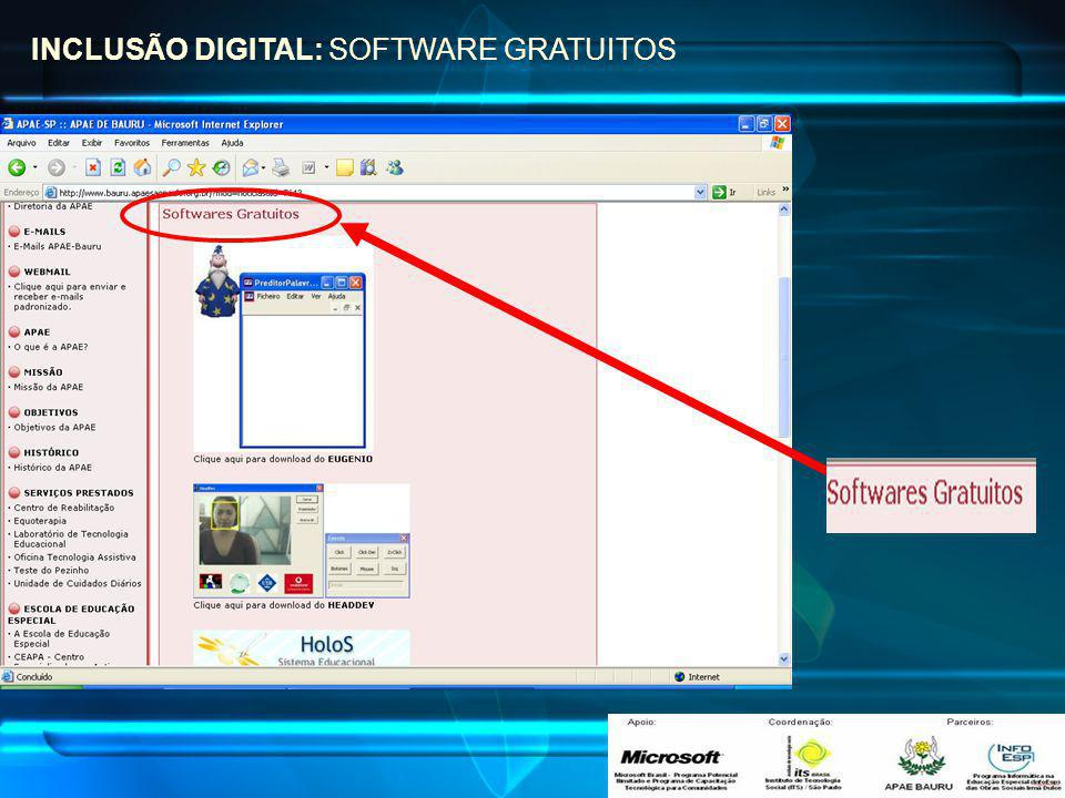 INCLUSÃO DIGITAL: SOFTWARE GRATUITOS