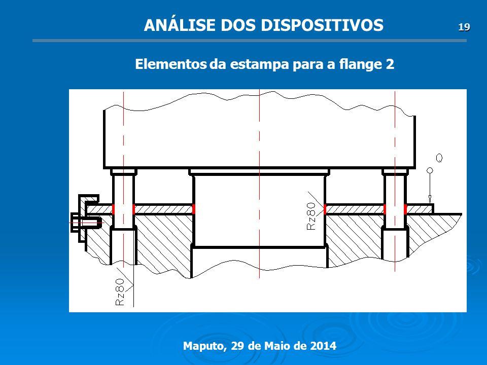 Maputo, 29 de Maio de 2014 19 ANÁLISE DOS DISPOSITIVOS Elementos da estampa para a flange 2