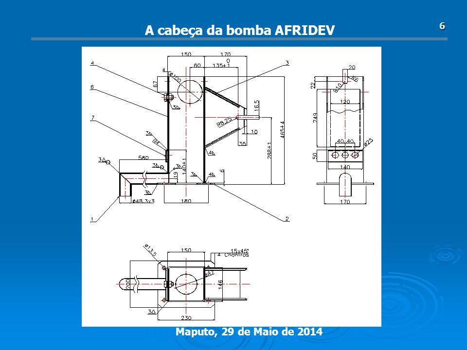 Maputo, 29 de Maio de 2014 6 A cabeça da bomba AFRIDEV