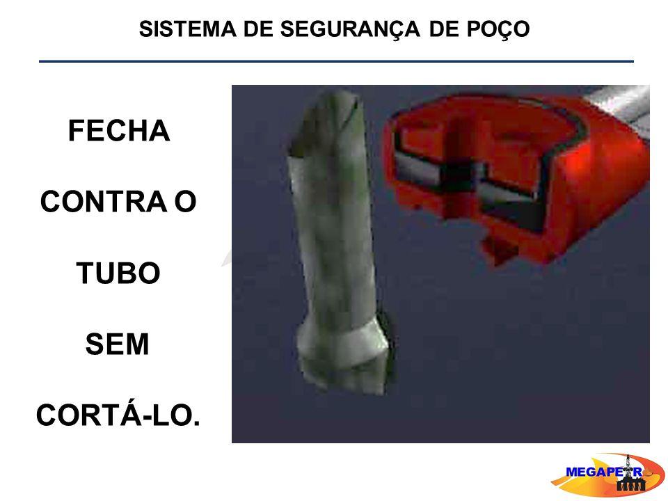 FECHA CONTRA O TUBO SEM CORTÁ-LO.