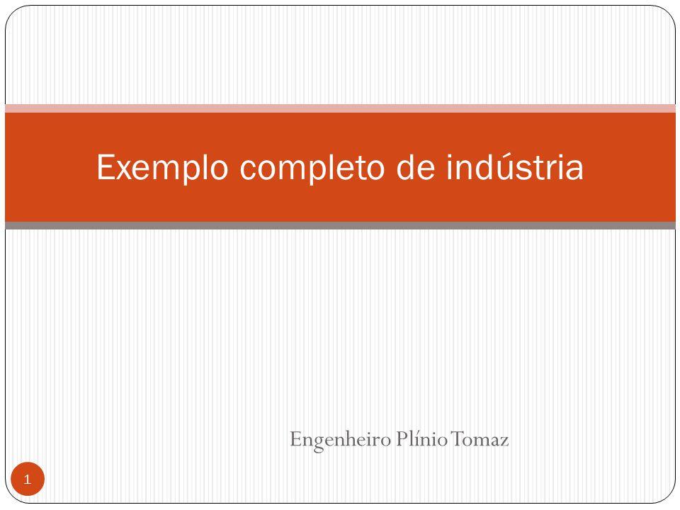 Engenheiro Plínio Tomaz 1 Exemplo completo de indústria