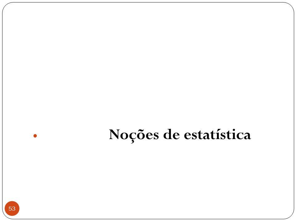 53 Noções de estatística