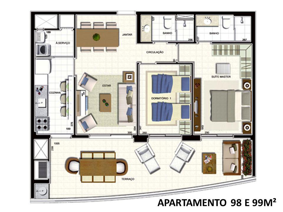 APARTAMENTO 98 E 99M²
