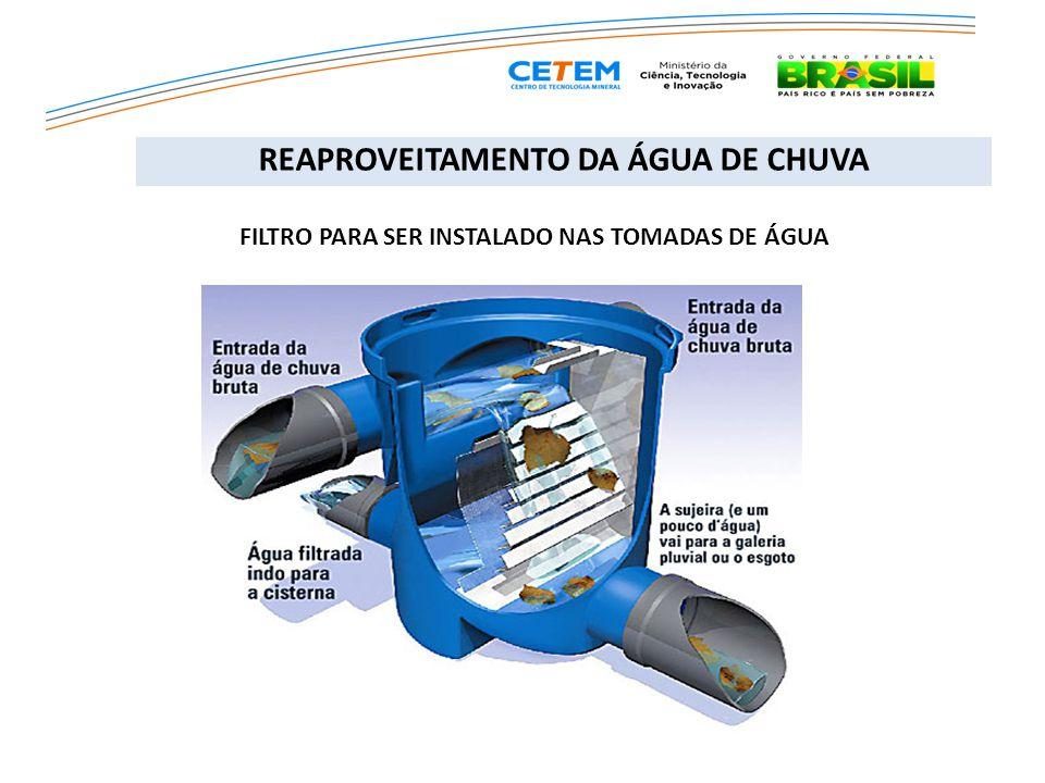 Canalização da captação das águas de chuva para o lago. REAPROVEITAMENTO DA ÁGUA DE CHUVA