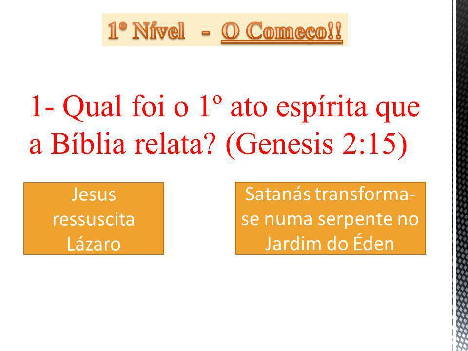 1- Qual foi o 1º ato espírita que a Bíblia relata.