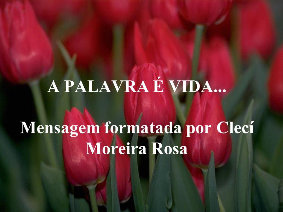 A PALAVRA É VIDA... Mensagem formatada por Clecí Moreira Rosa