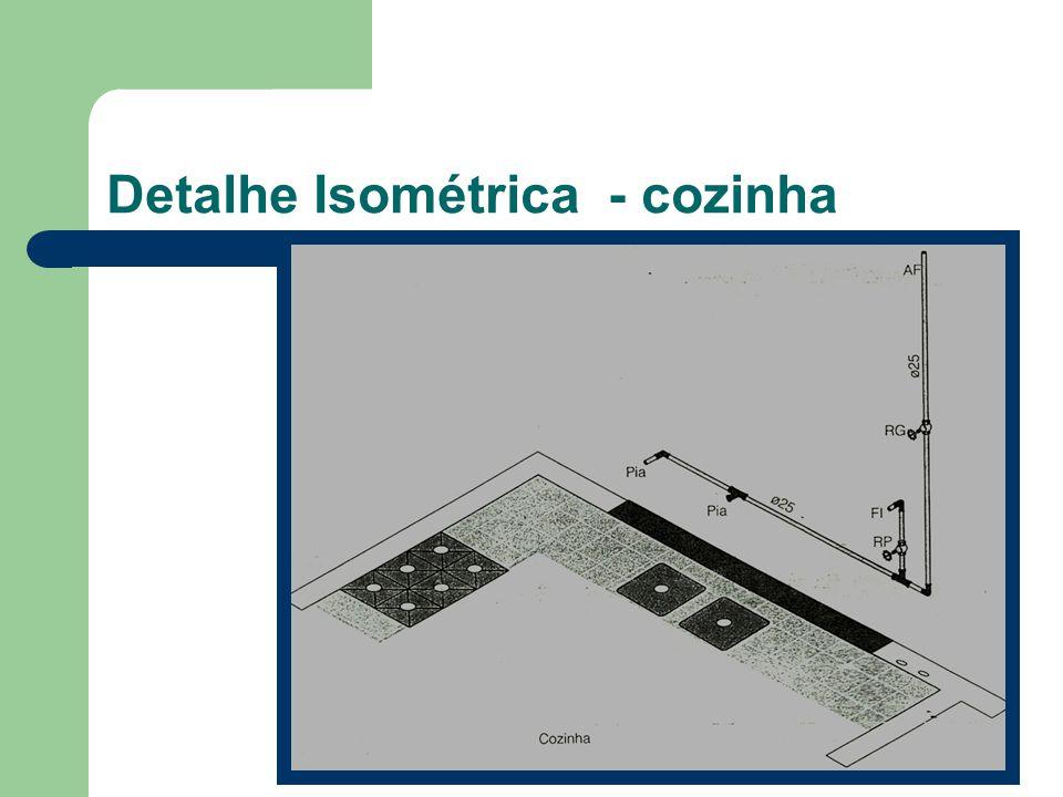 Detalhe Isométrica - cozinha