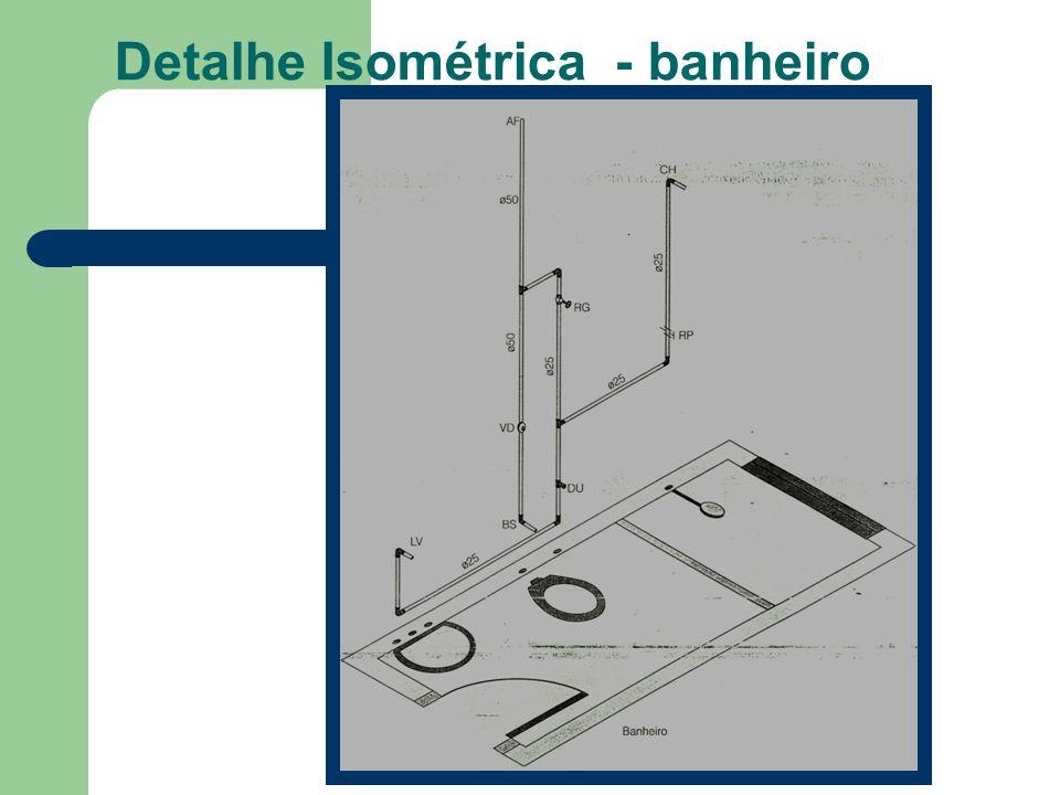 Detalhe Isométrica - banheiro