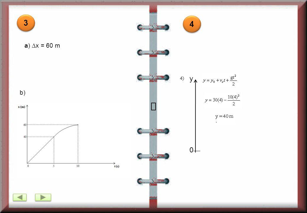 c)MRUV (nos últimos 10s) Substituindo na equação: v = v 0 + at, tem-se: 0 = 41+ a(10), então a = -4,1m/s 2 Resp.: -4,1m/s 2 d) MRU (nos 20s): Substituindo na equação, tem-se: Resp.: 820m MRUV (nos últimos 10s): Resp.: 26,88 m/s c)MRUV (nos últimos 10s) Substituindo na equação: v = v 0 + at, tem-se: 0 = 41+ a(10), então a = -4,1m/s 2 Resp.: -4,1m/s 2 d) MRU (nos 20s): Substituindo na equação, tem-se: Resp.: 820m MRUV (nos últimos 10s): Resp.: 26,88 m/s RESPOSTAS b) Substituindo na equação: v = v 0 + at, tem-se: 41 = 0 + 1,2t, então: t = 34,16s Resp.: 34,16s a ) MRUV (nos primeiros 700m) Substituindo na equação:, tem-se: v 2 = 2(2)(700), então: v = = 41 m/s Resp.: 41 m/s 1 1