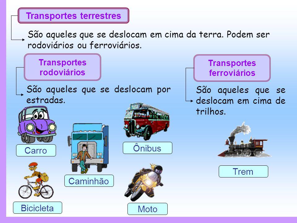 Transportes Marítimos São aqueles que se deslocam em rios e em mares.