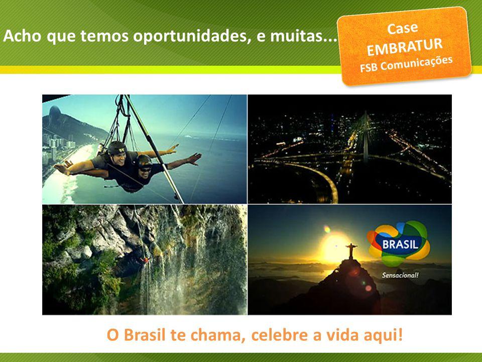 Case EMBRATUR FSB Comunicações O Brasil te chama, celebre a vida aqui.