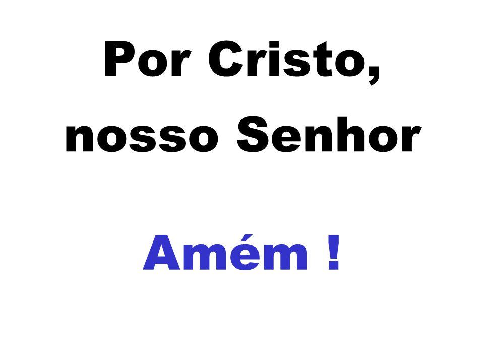 Por Cristo, nosso Senhor Amém !