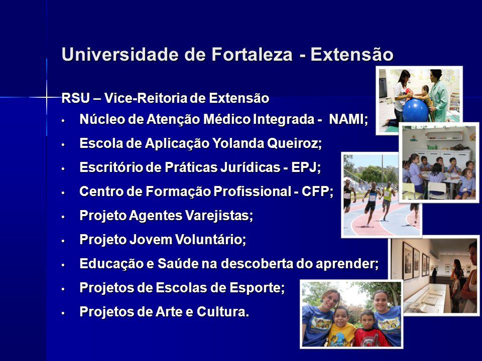 Universidade de Fortaleza - Extensão RSU – Vice-Reitoria de Extensão Núcleo de Atenção Médico Integrada - NAMI; Núcleo de Atenção Médico Integrada - N
