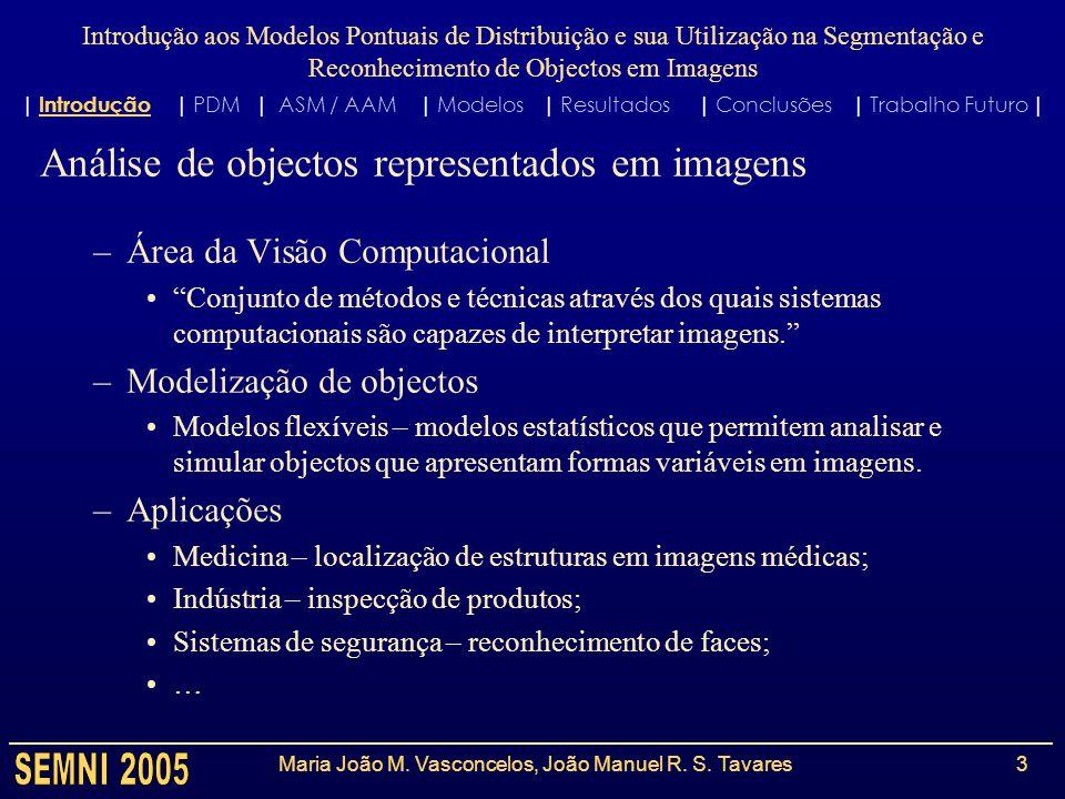 Introdução aos Modelos Pontuais de Distribuição e sua Utilização na Segmentação e Reconhecimento de Objectos em Imagens Maria João M.