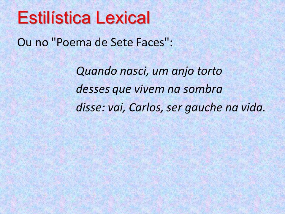 Estilística Lexical Ou no