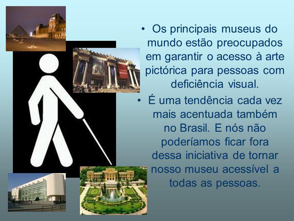 Os principais museus do mundo estão preocupados em garantir o acesso à arte pictórica para pessoas com deficiência visual. É uma tendência cada vez ma
