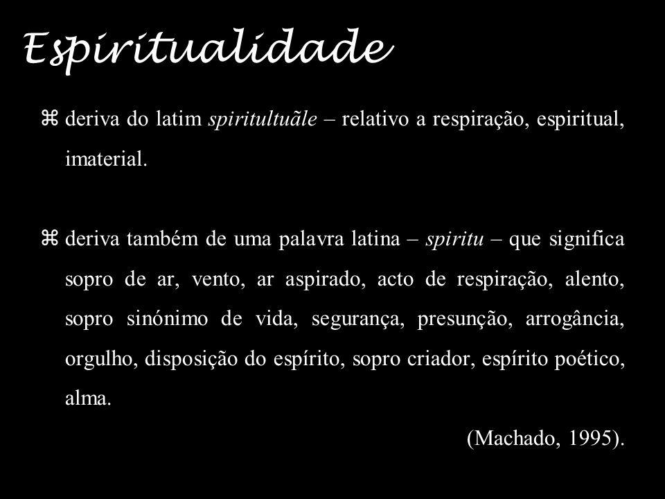 8 Espiritualidade deriva do latim spiritultuãle – relativo a respiração, espiritual, imaterial.