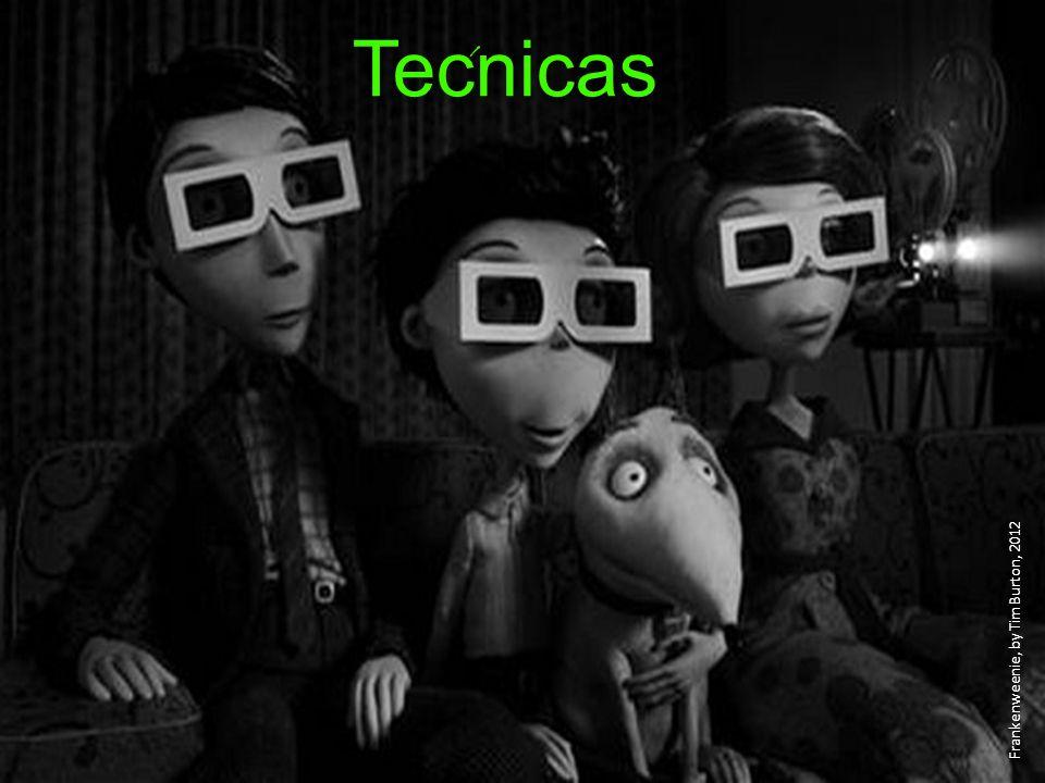Tecnicas Frankenweenie, by Tim Burton, 2012 ´