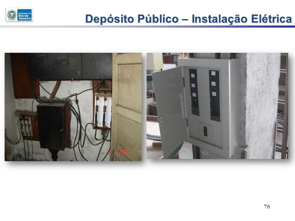 76 Depósito Público – Instalação Elétrica