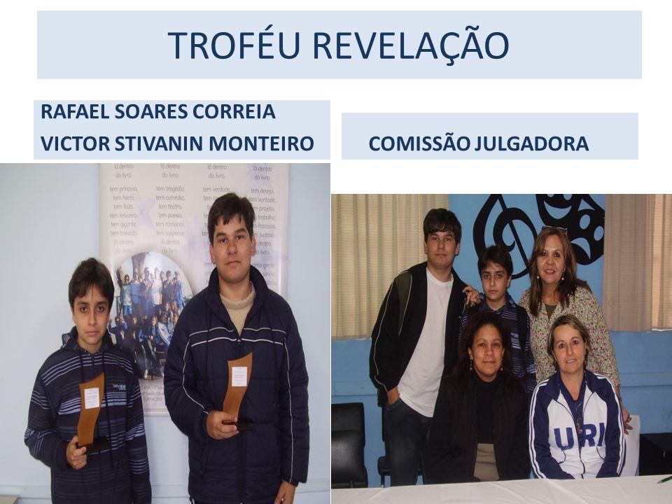 TROFÉU REVELAÇÃO RAFAEL SOARES CORREIA VICTOR STIVANIN MONTEIRO COMISSÃO JULGADORA