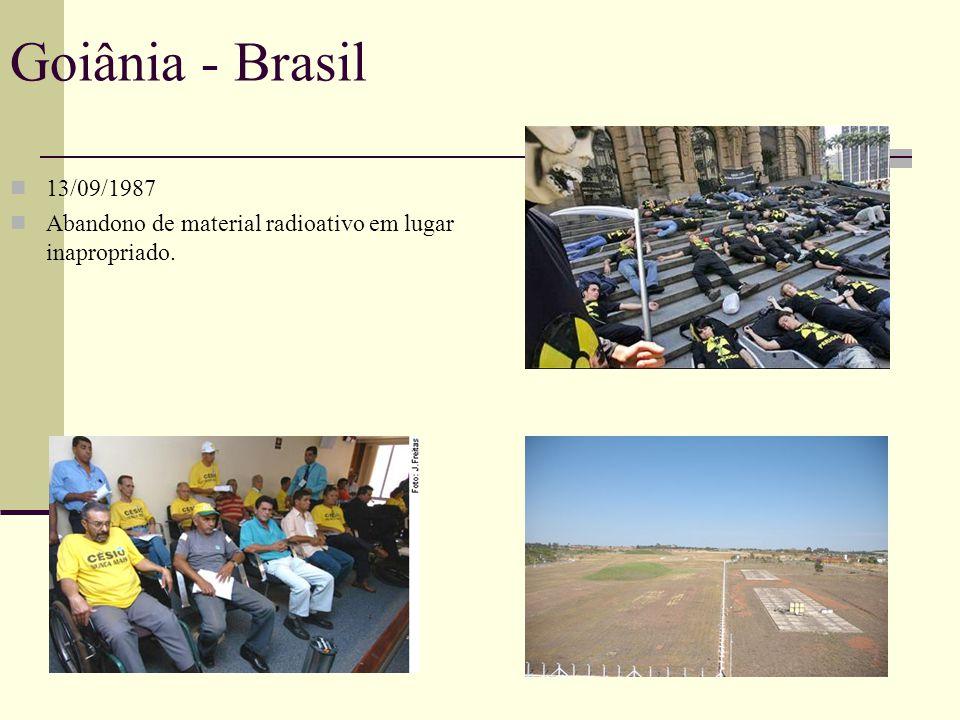 Goiânia - Brasil 13/09/1987 Abandono de material radioativo em lugar inapropriado.