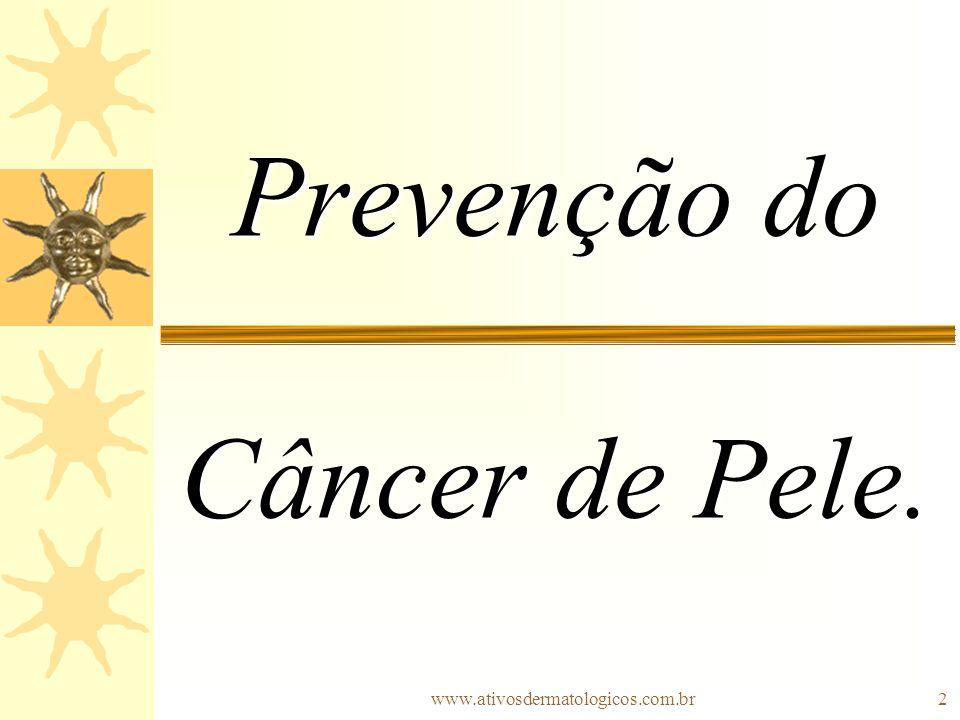 www.ativosdermatologicos.com.br2 Prevenção do Câncer de Pele.