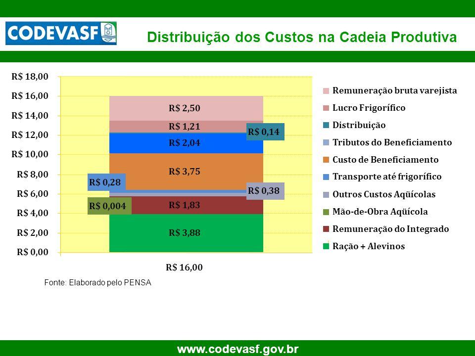 19 www.codevasf.gov.br Distribuição dos Custos na Cadeia Produtiva